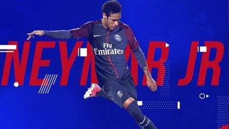 Neymar resmi menjadi pemain baru Paris Saint-Germain. - INDOSPORT