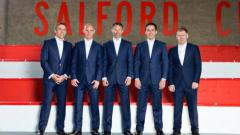 Indosport - Ryan Giggs, Paul Scholes, Nicky Butt, Gary Neville, Phil Neville sebagai pemilik Salford City.