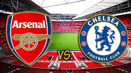 Arsenal vs Chelsea dalam laga Community Shield 2017. - INDOSPORT