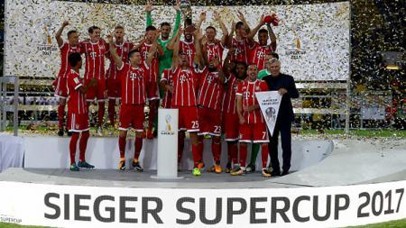 Bayern Munchen juara Piala Super Jerman 2017. - INDOSPORT