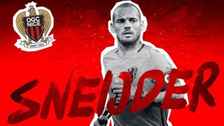 Wesley Sneijder resmi menjadi pemain baru OGC Nice. - INDOSPORT