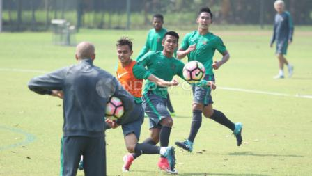 Latihan Timnas U-22 jelang SEA Games.