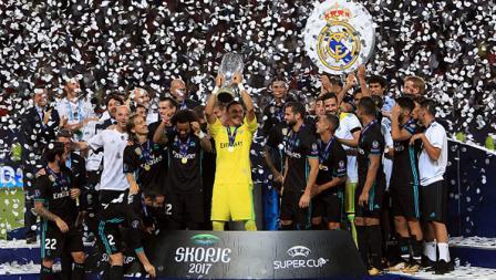 Real Madrid berhasil meraih gelar Piala Super Eropa 2017.