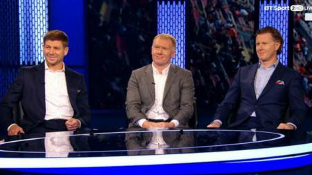 Steven Gerrard, Paul Scholes, dan Steve McManaman. - INDOSPORT