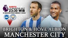 Indosport - Prediksi Brighton & Hove Albion vs Manchester City.