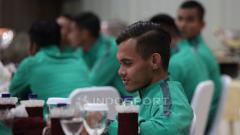 Indosport - Rezaldi Hehanusa saat acara pelepasan Timnas U-22.