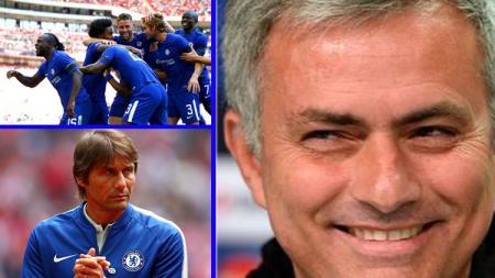 Chelsea, Antonio Conte, Jose Mourinho. - INDOSPORT