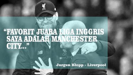 Klopp jagokan Manchester City raih juara Liga Inggris. - INDOSPORT