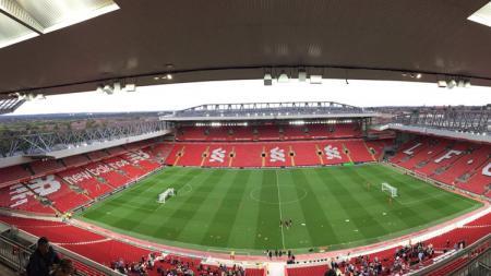 Stadion Anfield venue leg pertama perempatfinal Liga Champions 2018/19. - INDOSPORT