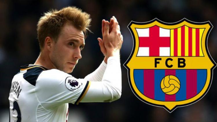 Christian Eriksen dikabarkan menjadi target Barcelona. Copyright: Mirror