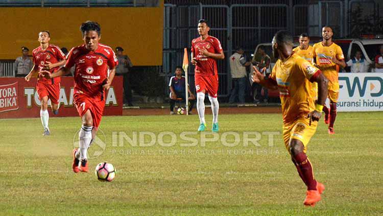 Semen Padang vs Sriwijaya FC. Copyright: Taufik Hidayat/INDOSPORT