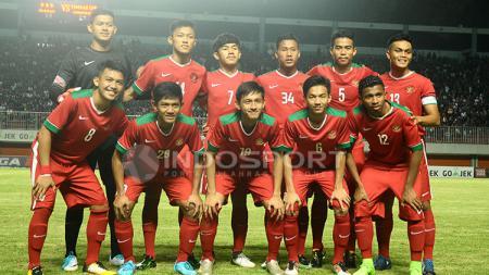 Skuat Timnas Indonesia U-19 saat menghadapi PSS Sleman. - INDOSPORT