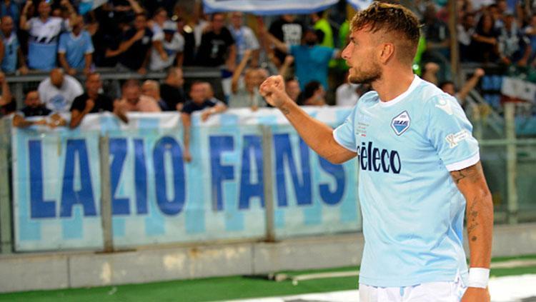 Ciro Immobile mencetak dua gol dalam laga Piala Super Italia 2017 melawan Juventus. Copyright: INDOSPORT