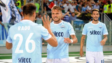 Lazio berhasil mengalahkan Juventus dengan skor 3-2 di Piala Super Italia 2017. - INDOSPORT