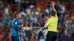 Indosport - Cristiano Ronaldo tak menyangka akan diusir wasit di laga Piala Super Spanyol.