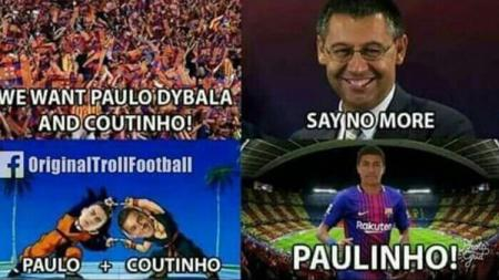 Kehadiran Paulinho di Barcelona tidak disukai oleh fans mereka sendiri. - INDOSPORT