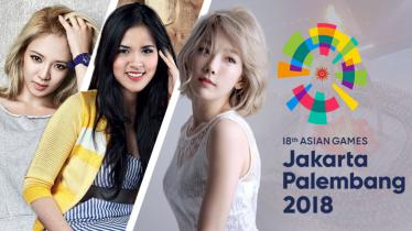 365 Hari menuju Asian Games 2018 Jakarta - Palembang berlangsung di Monas, Jakarta dan dimeriahkan artis papan atas dunia seperti Taeyeon dan Hyoyeon (Girls Generation - SNSD). - INDOSPORT