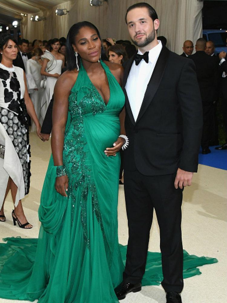 Serena Williams dan Alexis Ohanian. Copyright: Indosport