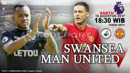 Susunan pemain Swansea City vs Manchester United. - INDOSPORT