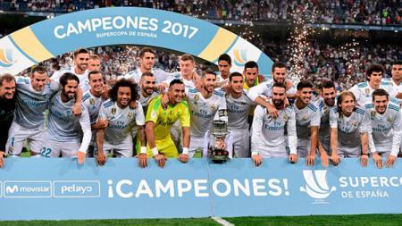 Real Madrid menjadi pemegang gelar juara Piala Super Spanyol 2017. - INDOSPORT