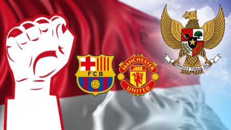 Manchester United dan Barcelona rayakan Kemerdekaan Indonesia. - INDOSPORT