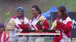 Tim panahan wanita di SEA Games 2017.