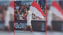 Fandika Ramadhani, pebasket Tanah Air yang membawa bendera Indonesia di Prancis.