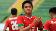 Indosport - Septian David Maulana selebrasi.