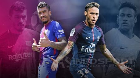 Paulinho dan Neymar. - INDOSPORT