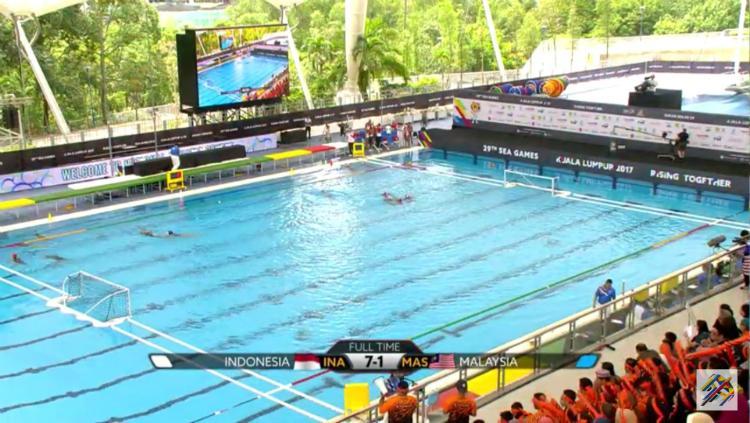 Timnas Polo Air Putri Indonesia kalahkan tuan rumah. Copyright: Twitter/@BadmintonTalk