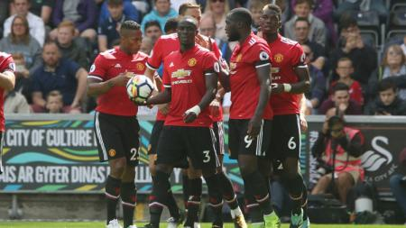 Manchester United sukses benamkan Swansea City 4-0. - INDOSPORT