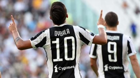 Paulo Dybala sumbang satu gol ke gawang Cagliari. - INDOSPORT