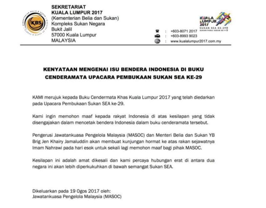 Pernyataan Sekretariat Kuala Lumpur Copyright: bharian.com