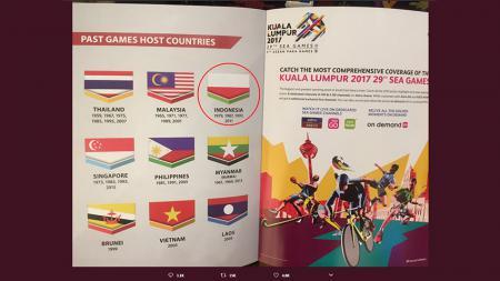 Bendera Kontingen Indonesia terbalik - INDOSPORT