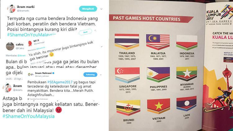 Berbagai respon warganet Indonesia membalas insiden bendera terbalik. Copyright: Istimewa