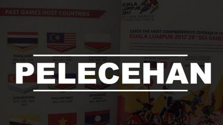 Terbaliknya bendera Indonesia di Sea Games 2017. - INDOSPORT