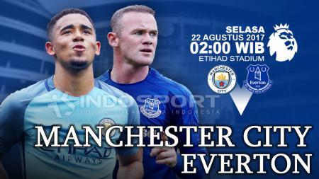 Prediksi Manchester City vs Everton. - INDOSPORT
