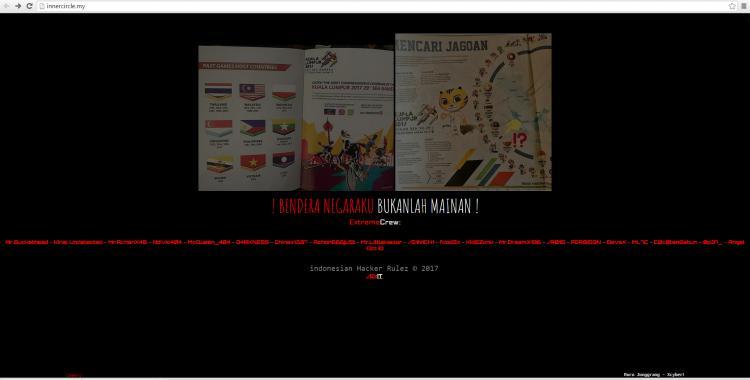 Website Malaysia diretas hackers dari Indonesia. Copyright: internet