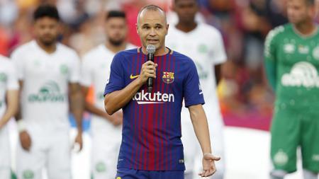 Andres Iniesta, playmaker sekaligus kapten Barcelona. - INDOSPORT