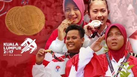 Atlet yang sumbang emas di Sea Games 2017. - INDOSPORT