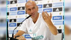 Indosport - Zinedine Zidane, pelatih Real Madrid.