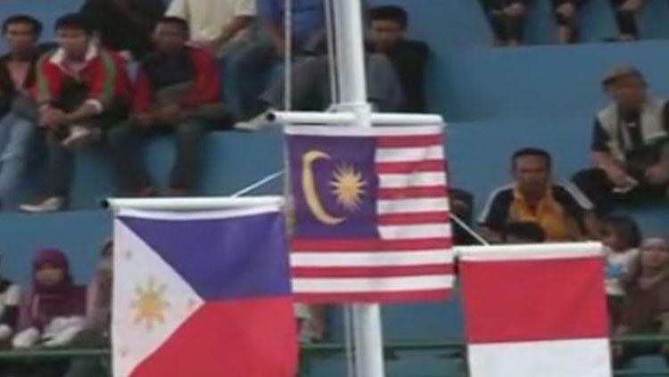 Bendera Filipina, Malaysia, dan Indonesia. Copyright: Istimewa