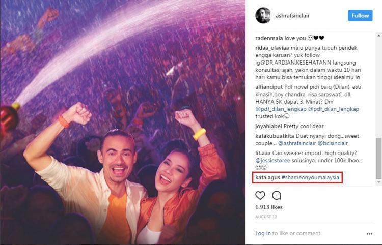 Akun Instagram Ashraf Sinclair diserang warganet. Copyright: Instagram/@ashrafsinclair