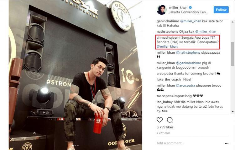 Akun Instagram Miller Khan diserang warganet. Copyright: Instagram/@miller_khan