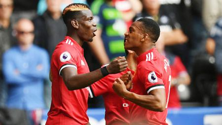 Paul Pogba dan Anthony Martial. - INDOSPORT