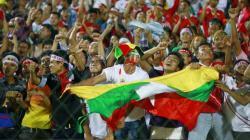 Suporter Timnas Myanmar.