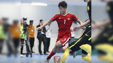 Timnas Futsal Indonesia melawan Timnas Malaysia. - INDOSPORT