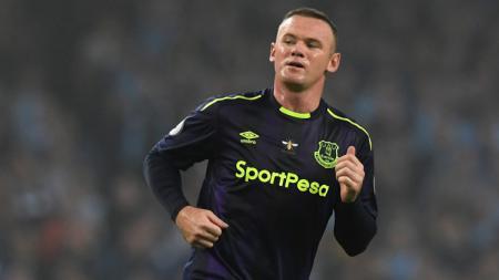 Penyerang andalan Everton, Wayne Rooney. - INDOSPORT