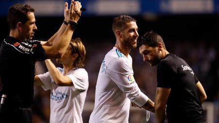 Sergio Ramos, bek tengah sekaligus kapten Real Madrid. - INDOSPORT