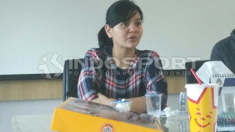 Ratu Tisha, Sekjend PSSI. Copyright: Zainal Hasan/INDOSPORT